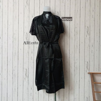 SKA221 Dress Lingerie Kimono Hitam Set - Baju Tidur Tipis Wanita