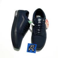 Sepatu Vans Comfycush Old Skool Oldskool Distort Dress Blue Murah