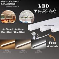 LAMPU TL / T5 LED/ LED TUBE LIGHT 6W 10W 18W 20W / 30CM-120CM TERMURAH - 6W - 30CM, WARM WHITE