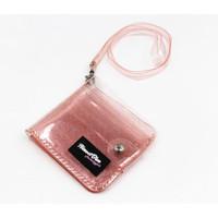Dompet Kartu Gantung Glitter Transparan Dompet AlmostBlue Jelly KPOP
