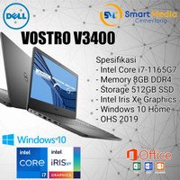 Laptop Dell Vostro 3400|i7-1165G7|8GB|512SSD|IRIS XE|14FHD|W10H+OHS