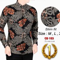 Batik Pria / Kemeja Slimfit Pria / Baju Batik Lengan Panjang CDL09