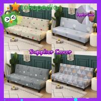 COVER SOFABED / sarung kursi sofa bed elastis motif bahan import murah