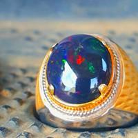 batu cincin kalimaya black opal asli banten top jarong HQ high Quality