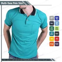 Baju Kaos Polo Shirt Pria Berkerah Hijau Tosca Lis