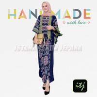 baju setelan wanita bati set celana muslim songket tenun S M L XL XXL