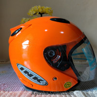Helm Centro INK + Kardus + Buble warp - Orange