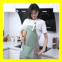 Celemek Masak Dapur Salur Apron Restoran Koki Kain Katun Cotton Impor