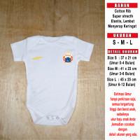 Baju Bola Bayi/Baby Romper/Baby Jumper Persija Away (TANPA SPONSOR)