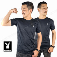 Baju Kaos Dalam Singlet Oblong Polos Body Fit Cowok Pria Playboy Hitam