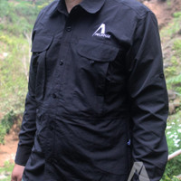 Kemeja Lapang PDL Pelvoux Exo Long Sleeve Shirt Quick Dry Warna Hitam