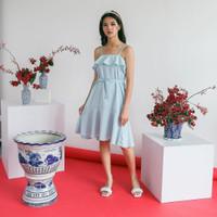 Sadina Dress | Flare | Mini Tanktop wanita kondangan premium adjust - mint