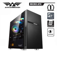 Armaggeddon Tesseract Core 2 Pro-Grade Gaming Case with Tempered Glass - NON FAN