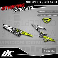 STRIPING VARIASI MIO SPORTY / SMILE - SMIO 16 - STIKER MOTIF RACING