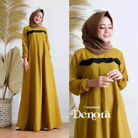 Gamis Wanita Muslim Syari Dewasa Baju Muslimah Cewek Maxi Dress Casual