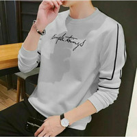 Sweater Pria Simple Mix Rajut Sweter Pria Atasan Pria Baju Cowok Sweat