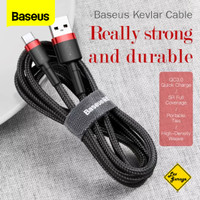 Kabel Data Baseus USB Type C Kevlar Cable Fast Charge 3A QC 3.0