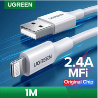 UGREEN Kabel USB to Lightning Mfi Apple Certified For IPhone Ipad Ipod