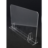 AKRILIK PEMBATAS MEJA TABLE ( 5MM ) - DENGAN LUBANG, 60x50cm