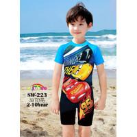 Baju Renang Anak Laki-Laki Cars Biru Import SW270