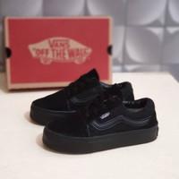 sepatu anak vans old school full black tali size 25-35