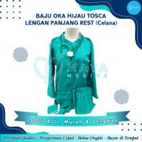 Baju OK / Hijau Tosca / Lengan Panjang / Baju Rest / Celana Karet
