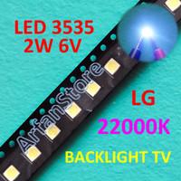 LED 3535 LG 6V 2W 22000K Cold White Backlight LCD TV SMD Putih