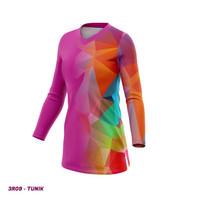 Kaos Baju Jersey Sepeda Gowes Model Tunik Wanita Lengan Panjang 3R09