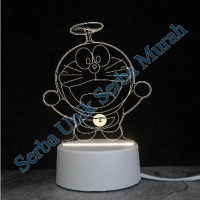 Lampu Tidur / Pajangan Lampu Hias 3D Model Doraemon Baling