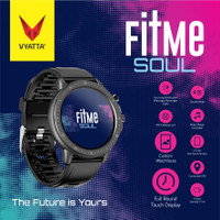 VYATTA Fitme Soul Smartwatch - Custom Watch Face, Full Touch, Metal