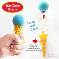 GROSIR MAINAN ANAK ICE CONE PRANK TOY - MIC LONCAT SOUVENIR ULTAH ANAK