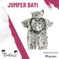 Jumper Bayi Moo + Ciput & Celemek / Jumpsuit (BKD-MOO)