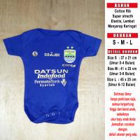 Baju Bola Bayi/Baby Romper/Baby Jumper Persib Home LIGA1 2017