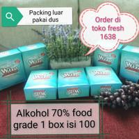 tissue alkohol 70 persen - Putih