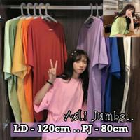 Baju Kaos Polos XXL Jumbo Wanita Lengan Pendek Atasan Big Over size Ld