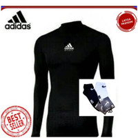 Baju olahraga manset Adidas pria wanita manset baselayer murah