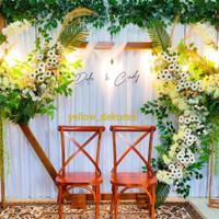 Hexagon + 2pcs Standing flower Backdrop Wedding/engagement