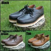 promo sepatu safety boot REDWING pendek sepatu pria kulit safety - Hitam, 39