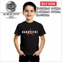 Kaos Baju Anak HANAMICHI SAKURAGI BASKET AIR JORDAN Anime SLAM DUNK - XS