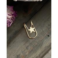LRC Anting Jepit Fashion Star Alloy Non-pierced Ear Clip P94682 ( 1Pcs