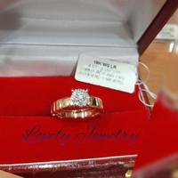 cincin wanita berlian emas hongkong