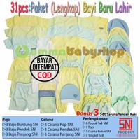 Perlengkapan Bayi Lahir 31pcs Paket Newborn Kado Baju Celana Bayi