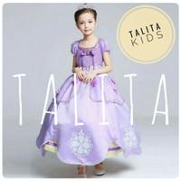 Baju anak Dress Kostum Princess Sofia UNGU