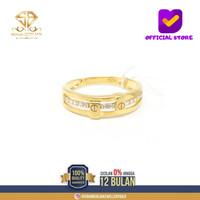 SBJ1 - cincin emas kuning asli wanita terbaru kadar 700 CMK195 R14