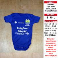 Baju Bola Bayi/Baby Romper/Baby Jumper Persib Home LIGA1 2018