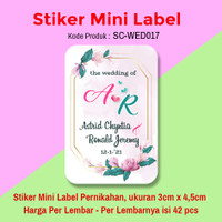 STIKER LABEL SOUVENIR PERNIKAHAN STICKER WEDDING MINI SAVE THE DATE