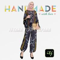 baju setelan muslim wanita set batik celana tenun troso S M L XL XXL