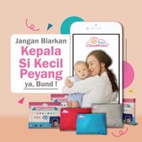 Paket Bantal Bayi+Bantal Tangan Baby Cloudfoam Anti Peyang - Merah