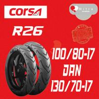 BAN LUAR CORSA PAKET 100/80-17 DAN 130/70-17 PLATINUM R26 TUBELESS