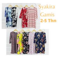 Sakira Gamis Anak 2-5 Tahun - Baju Muslim Anak Perempuan - motif i, No. 6 (3-4 Thn)